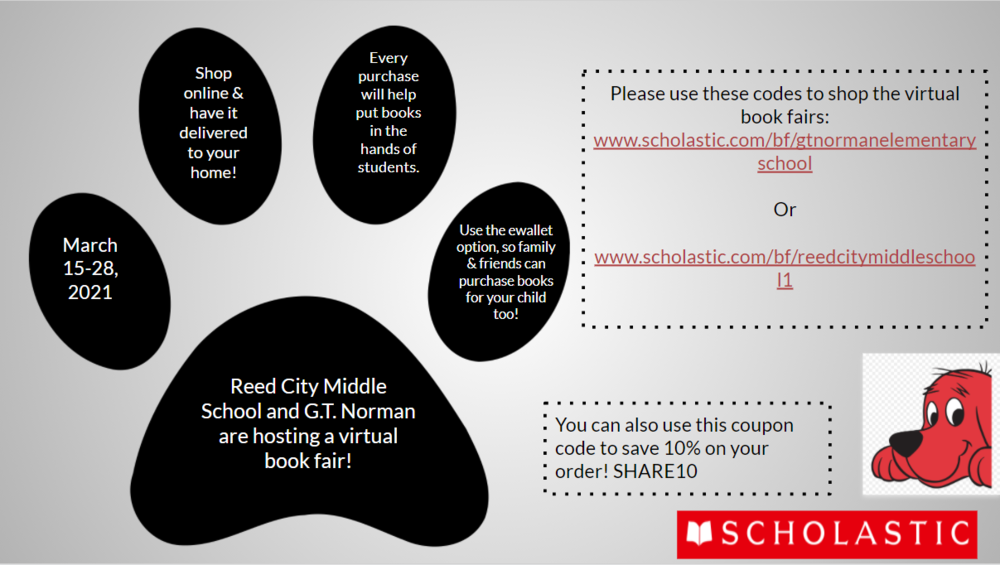 Virtual Book Fair - Spring 2021
