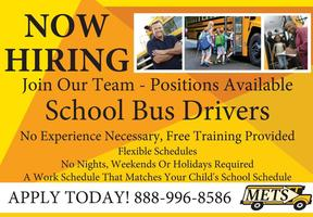 We Need Bus Drivers! Come Drive for us!