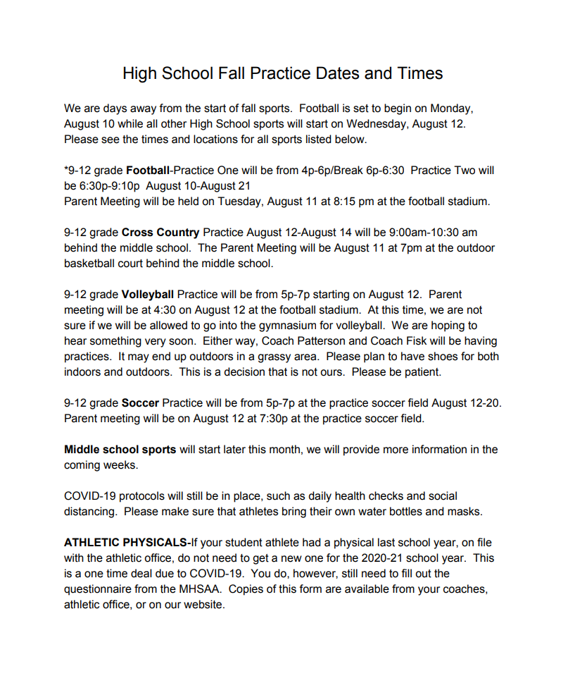 High School Practice Dates Times Pg 1