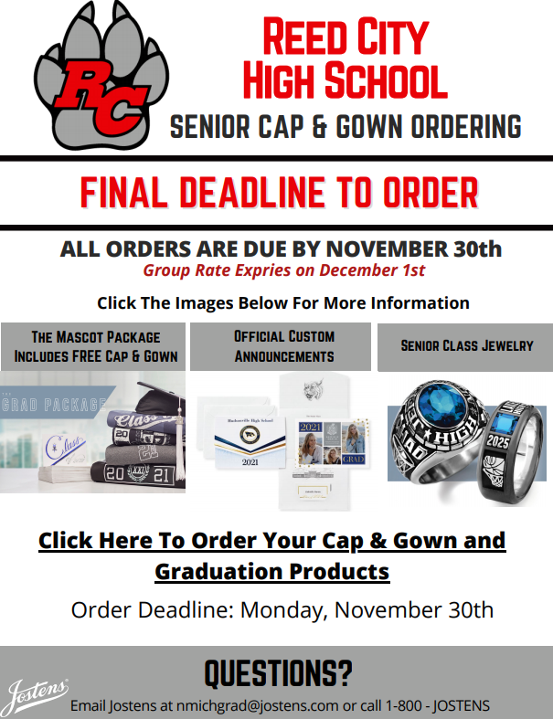 Graduation Orders Deadline